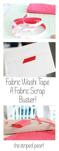 A Fabric Scrapbuster: DIY Fabric Washi Tape