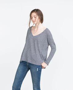 BASIC T - SHIRT - Long Sleeve - T - shirts - WOMAN | ZARA United $ States $12.90