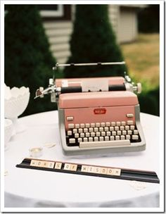 like the typewriter and scrabble words