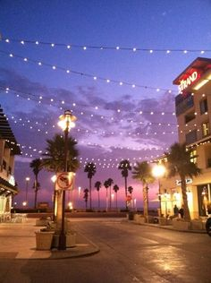 Downtown Huntington Beach, CA. Twilight at The Strand
