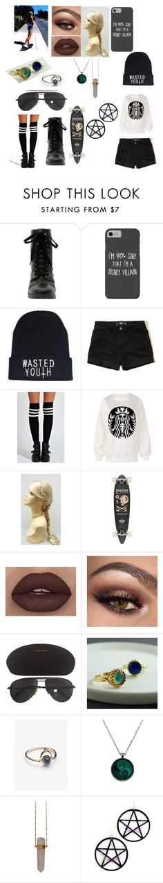 """Alic's Sk8ter Girl Outfit #1"" by llallharona on Polyvore featuring Disney, Hollister Co., Boohoo, Tom Ford, Free People and Marina Fini"