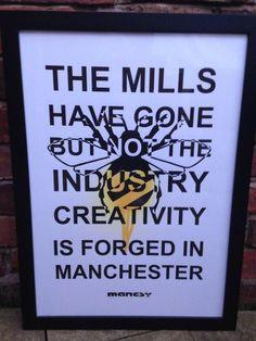Mancsy Rocks Manchester! Embedded image permalink Manchester Art, Manchester England, Bolton England, I Love Mcr, Midland Hotel, Sick Boy, Salford, Modern City, Street Artists