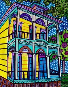11x14 Mardi Gras Art   New Orleans Art French by HeatherGallerArt, $24.00