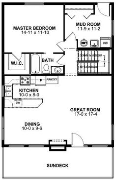 A-Frame House Plan 99975 Level One