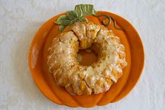 after being brought a delicious monkey bread this week, i think this pumpkin one would be great for fall