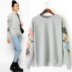 New 2015 Fall Women flower Loose Crewneck Sweatshirt Cute Sleeves women hoody Printed Pullovers casual Hoodies Suits|6aa323b2-ec0a-49bb-b074-f4845c2c2c78|Hoodies & Sweatshirts