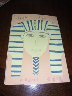 Couverture du lapbook l'Egypte antique, Solveig (11 ans), avril 2011. www.carpediem.asso.fr