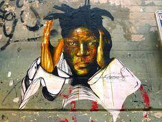 """Hopare """"Hommage a Basquiat"""" Rue pierre au lard...Paris (FR) 2013"""