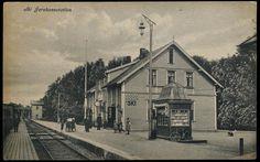 SKI Jernbanestation i Akershus fylke Østfoldbanen tidlig 1900-tall Utg Narvesen