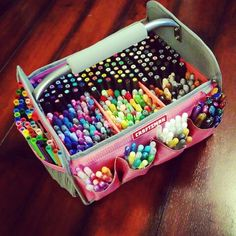 Craftsman pink tool tote from Sears!  Perfect marker storage!