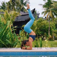 Kayla Nielson is featured in the #AloYoga High-Waist Airbrush Legging #yoga #inspiration #strength