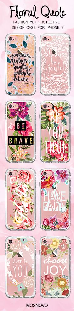 Mosnovo Floral Quote iPhone 7 Cases Collection ☞ http://amzn.to/2eodt03  #Mosnovo