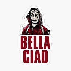 Fan art of the hit series Money Heist or La Casa de Papel.  money heist, nairobi, berlin, la casa de papel, netflix, rio, money, denver, heist, helsinki, tokyo, oslo, papel, profesor, casa, el profesor, mask, tokio, bella ciao, casa de papel, professor, series, tv, dali, moscow, serie, spain, bella, de, moscu, robbery, the professor, ciao, salvador, show, bank, dalí, moscú, song, tv show, casa di carta, españa, estocolmo, house, la, lacasadepapel, matriarcado, music, red, spanish, thieves Tumblr Stickers, Cool Stickers, Laptop Stickers, Papel Sticker, Spongebob Time Cards, Crazy Things To Do With Friends, Funny Study Quotes, Disney Phone Wallpaper, Friends Tv