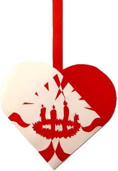 Fjerde Søndag i Advent | Julehjertedesign.dk: skabeloner til flotte og unikke julehjerter til juletræet. Traditional Danish Christmas hearts for unique paper art.
