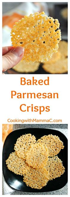Make these gluten-free Baked Parmesan Crisps for an easy appetizer, snack or to top your soup or salad! I flavor mine with garlic powder and paprika, but they're good plain too!                                                                                                                                                                                 More