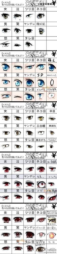 画动漫人物眼睛 技法!太棒了.…_来自uchiha歆蓝的图片分享-堆糖网