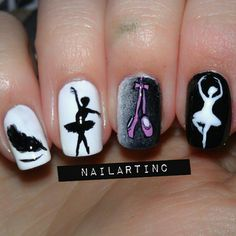 black swan inspired by nailartinc #nail #nails #nailart