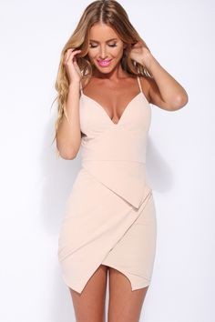 HelloMolly | Mood Is Right Dress Nude