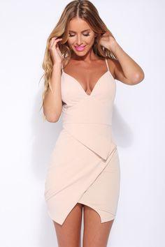 HelloMolly | Mood Is Right Dress Nude