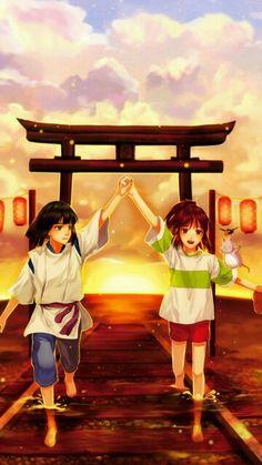 Sen to Chihiro no Kamikakushi // Spirited Away - Hayao Miyazaki Hayao Miyazaki, Studio Ghibli Art, Studio Ghibli Movies, Chihiro Cosplay, Ai No Kusabi, Chihiro Y Haku, The Cat Returns, Another Anime, Film Studio