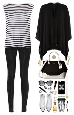 """Hello, there!"" by ealkhaldi ❤ liked on Polyvore featuring Kate Spade, Movado, Balmain, T By Alexander Wang, Damsel in a Dress, Dot & Bo, Giorgio Armani, Deborah Lippmann, Burberry and Michael Kors"