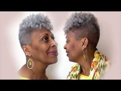 How to Crochet a Tapered Cut Thinning Crown Curlkalon Toni Curl Grey Hair Big Chop Hairstyles crochet Crown Curl Curlkalon cut Grey Hair Tapered Thinning toni Short Afro Hairstyles, Crochet Braids Hairstyles, Crown Hairstyles, Grey Hairstyle, Natural Hairstyles, Braided Hairstyles, Ebony Hair, Silver Grey Hair, Gray Hair
