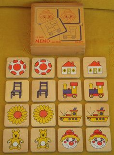 Children s Memory Game Wooden 16 Pieces 8 Pictures Memo Aus Holz WG 077