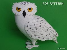 PDF pattern to make a felt Owl.  Ask a question  $5.32