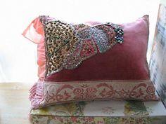 Dusky Fusion Pillow Cushion Antique Velvet ♥ by AllThingsPretty