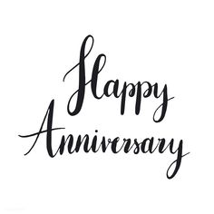 Happy anniversary typography style vector | free image by rawpixel.com