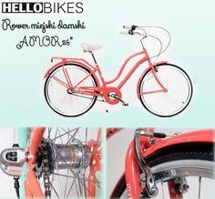 Chociaż zima swą bielą pięknie przystraja miasta, czasem o tej porze roku brak nam kolorów. Jaki mamy na to sposób? MALINOWY Rower miejski damski AMOR 26''! Drogie Panie, jeśli dbacie o styl i modny design to ten rower jest stworzony dla Was! Co w gratisie? Niezwykła wygoda i komfort jazdy!