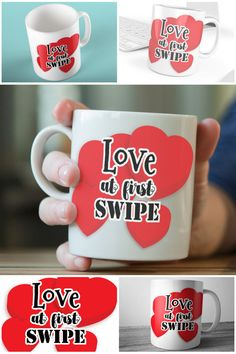 Love At First Swipe Tinder Mugs, Swiped Right Mugs  #loveatfirstswipe #tindergifts #swipedright #prandski