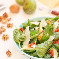 Salada de espinafres com figos
