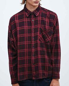 Cedar Dare Bare #Flannel #Shirts #Wholesale Red Flannel Shirt, Flannel Outfits, Red Plaid, Shirt Style, Menswear, Fashion Weeks, My Style, Long Sleeve, Husband
