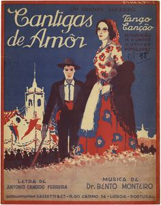 cantigas de amor 1933 Vintage Advertising Posters, Vintage Travel Posters, Vintage Advertisements, Vintage Ads, Tango, Nostalgic Pictures, Sheet Music Art, Poster Ads, Retro Ads