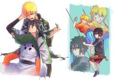 Naruto, Indra and Menma