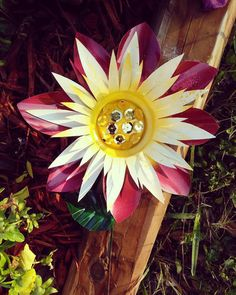 Dahlia Flower Garden Stake   Willu0027s Carousel   Metal Flower Garden Art  Https://