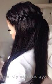 Adorable Straight half up half down hair with braids #gorgeoushair The post Straight half up half down hair with braids #gorgeoushair… appeared first on Hairstyles .