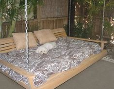 Teen Girl Bedrooms - Cypress Porch SWING BED 6 ft With Heavy Duty galvanized CHAIN set and made from Rotresistant Cypress Eternal Wood Made in the USA Green Furniture GO GREEN * Continue to the item at the picture link. (This is an affiliate link). Diy Swing, Patio Swing, Porch Swings, Outdoor Swings, Bed Swings, Patio Bed, Outdoor Daybed, Outdoor Fire, Green Furniture