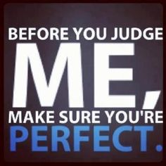 Before you judge me, make sure you're perfect... The Hobbyist Book
