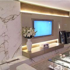 Stone Wall Design, Feature Wall Design, Tv Wall Design, Tv Feature Wall, Home Living Room, Living Room Decor, Modern Tv Wall Units, Living Room Tv Unit Designs, Tv Wall Decor