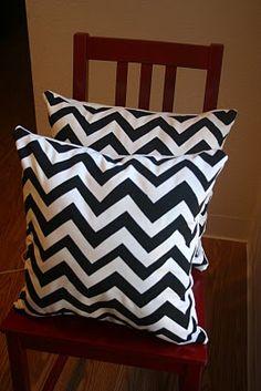 DIY chevron pillows.