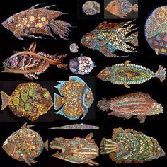 Amazing mosaic fish