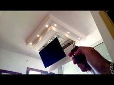 TV MOVING MFL - Staffa TV motorizzata da soffitto | Motorized TV Ceiling Bracket - YouTube