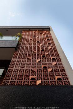 Exterior Wall Design, Brick Design, Facade Design, House Outer Design, House Front Design, Brick Facade, Facade House, House Floor, Modern Architecture House