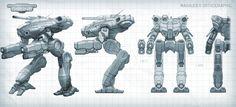 Mechwarrior: Online Marauder Orthographic