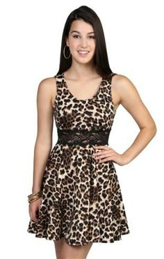 02a7312f226b Leopard Print Party, Cheetah Print, Skater Skirt Dress, Skater Skirts,  Animal