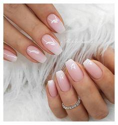 Wedding Nails For Bride, Wedding Nails Design, Bride Nails, Wedding Makeup, Sparkle Wedding, Prom Nails, Ombre Nail Designs, Short Nail Designs, Long Nails
