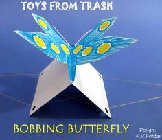 Bobbing Butterfly Toys from Trash