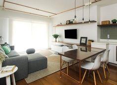 Um tem pegada industrial, o outro faz o estilo neutro. Conheça os apartamentos de dois irmãos, com plantas iguais e decorações bem diferentes